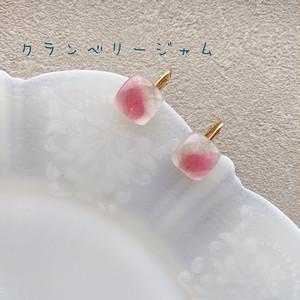 クランベリージャムイヤリング:sweets of glass