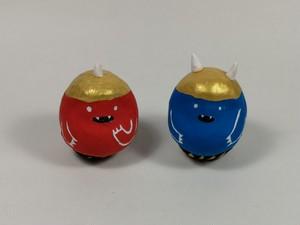 はとだるま(豆) 赤オニと青オニ