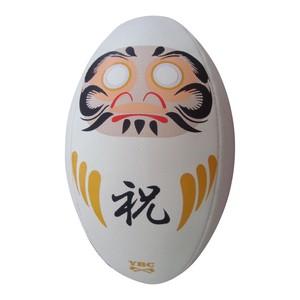 【YBC】 DARUMA Rugby Ball size4 White