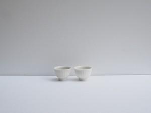 小林千恵 白磁鎬茶杯