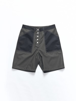 MARNI Shorts(S52545) Dark Green- Black PUMU0061BM