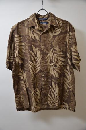 【Mサイズ】 NAUTICA ノーティカ ALOHA SHIRTS アロハシャツ 半袖シャツ BROWN ブラウン 400602190638