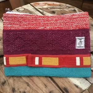 手織りクラッチバッグ(パープル)