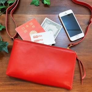 【牛革】L字型ウォレットバッグ<3色展開> L字型 お財布 お財布ショルダー 軽い シンプル コンパクト M7441