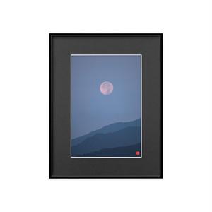 沈む月(ブラックボード)A4サイズ
