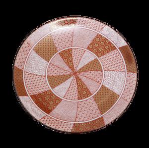 【九谷焼】5号皿 赤絵金襴手