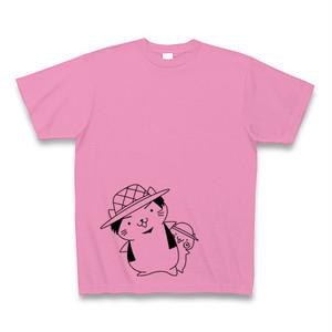 ねこっち&こねこっちTシャツ ピンク