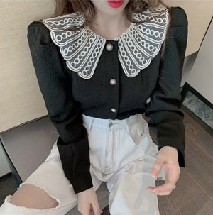 doll collar tops 2color
