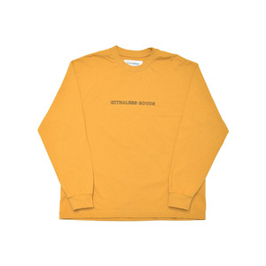 EXTRALESS L/S Tee GOODS Mustard EX19FW0005