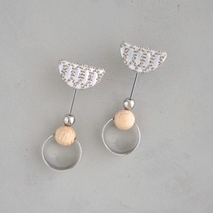pierced earrings C-P38/earrings C-E38<silver>