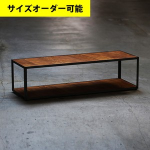 IRON FRAME LOW SHELF 127CM[TEAK COLOR]サイズオーダー可