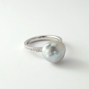 Pt900 / リング / South Sea pearl  ~one drop~