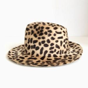 Circle original handmade HAT「Beige LeopardRabbit Fur hat」