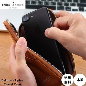iPhone 6s Plus スマホ アイフォーン 収納 本革 カバー マルチ対応 ポーチ 男女兼用 STORY LEATHER ストーリーレザー Dakota V1 プラスサイズ 対応 Travel Case 国内正規品