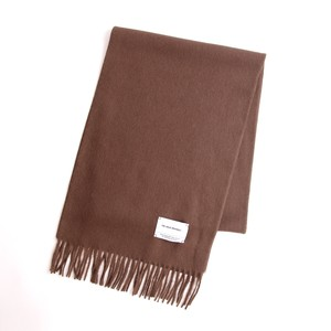 THE INOUE BROTHERS/Brushed Scarf/Brown