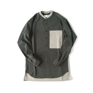 TAUPE TW Cleric Band-collar Shirt / TPM20304002