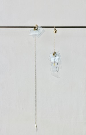 transparent long long long hanging earrings