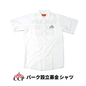 CONCRETE CIRCUS PROJECT (CCP) WORK SHIRTS (White) パーク設立募金シャツ