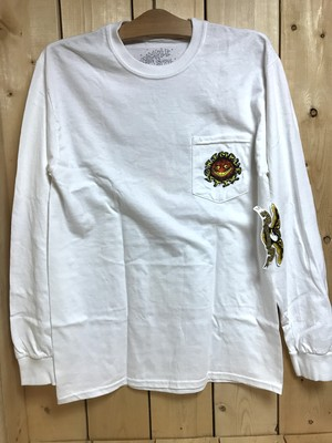 ANTIHERO GRIMPLE STICKS KEYMASTER L/S POCKET Tee WHITE M