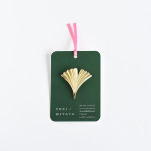 【Brooch】Leaf / Radial L brass