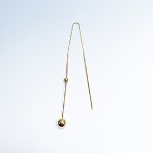 K18 Swing Bar with  Two Balls Pierce