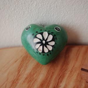 ソープストーン ハート(緑)