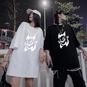 【トップス】反射悪魔図柄韓国系半袖プリントTシャツ30652578