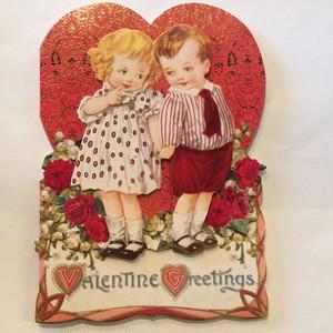 バレンタインカード 封筒つき kids in love