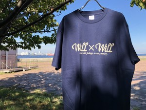 Will×Will logo T-shirts 【Navy】