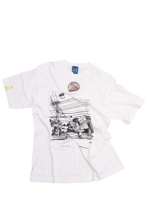 NO.408 玉川学園前駅前のTシャツ【東京都】【XLサイズ】