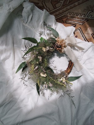 smoke tree wreath【S】ivory