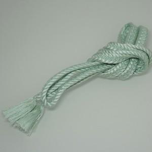帯締め 正絹 平組 手組み 水色 リユース 009