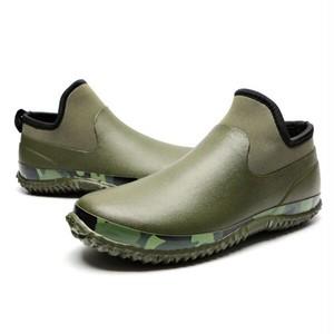 【FOOTWEAR/UNISEX】アウトドア ショートレインブーツ カモフラージュ【2colors】FT-108