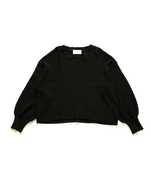 【ENLIGHTENMENT】WAFFLE KNIT CREW NECK PULL OVER