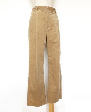 corduroy back vents pants