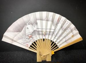 【7寸5分】夏用あおぎ扇子 蒲原(東海道53次/15)