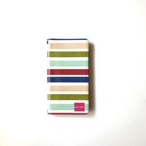 北欧デザイン 手帳型スマートフォンケース [ベルトなし] | iPhone6/7/8/SE(第二世代)兼用 |  summer stripe