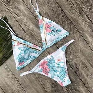Leaf flower bikini