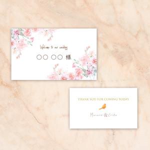 NC10【セミオーダー】結婚式/席札