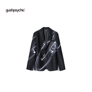 【gushpsychic】 3 Dプリントテーラードジャケット