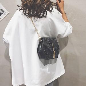 【小物】韓国系スパンコールチェーンマグネット斜め掛けバッグ