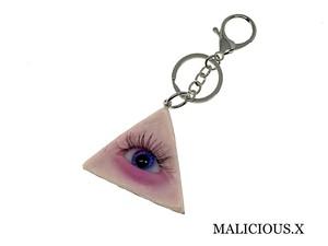 eye ring charm(skin) / pink × blue