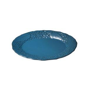「リアン Lien」オーバルプレート 皿 長幅約25cm ブルー 美濃焼 267834