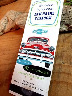 '54s シボレー ビンテージマッチカバー アメリカンヴィンテージ アメ車 アメリカ雑貨 ガレージ 世田谷ベース