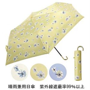 晴雨兼用折りたたみ傘 UVカット99%  直径88cm 花柄プリント お散歩用に