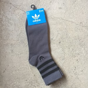 adidas Originals Strip Trefoil Logo Quarter 2 Pack Socks