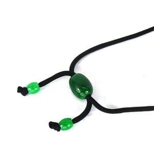 ns112 緑ガラス玉ネックレス