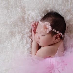 新生児フォト用ヘアアクセ(ピンク)