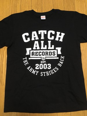 【残りわずか】CATCH ALL RECORDS COLLEGE LOGO T-SHIRT