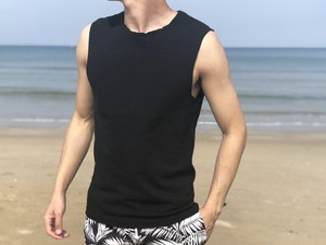 【6/19 21:00販売開始】ThreeArrows Cut-off Sleeveless(black)